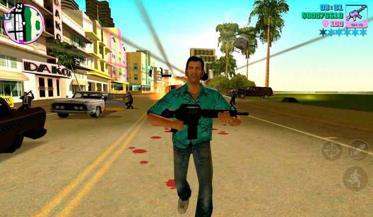 Interfaz gráfica del juego Grand Theft Auto: Vice City