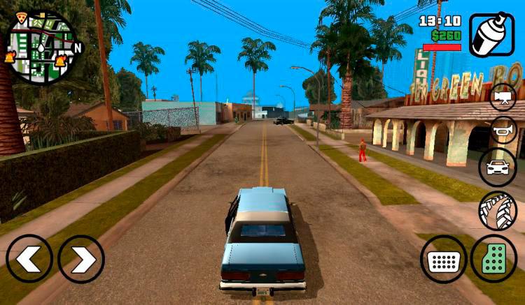 Interfaz gráfica del juego Grand Theft Auto San Andreas