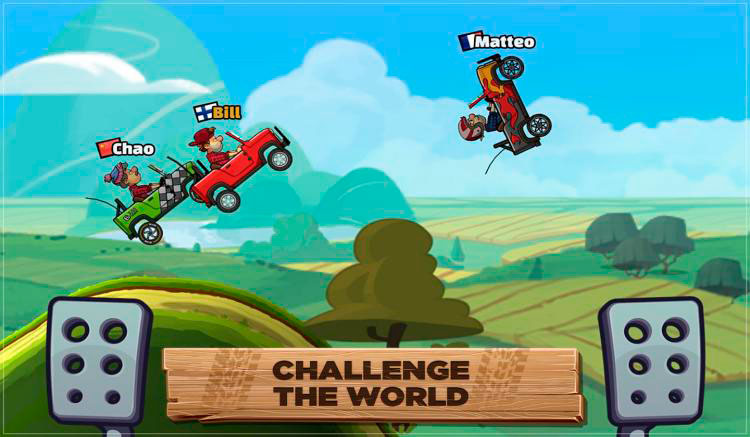 Interfaz gráfica del juego Hill Climb Racing 2