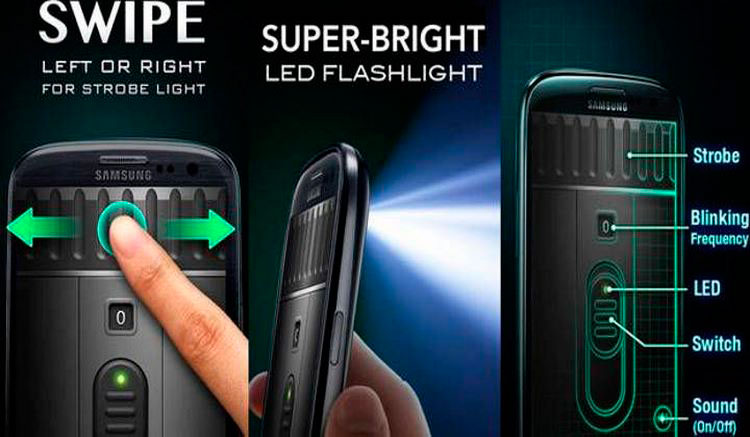 Interfaz gráfica de la app Linterna LED Súper-Brillante