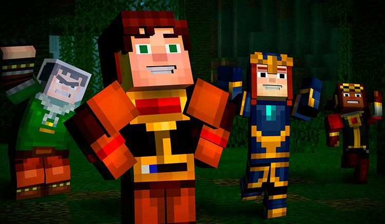 Interfaz gráfica del juego Minecraft: Story Mode