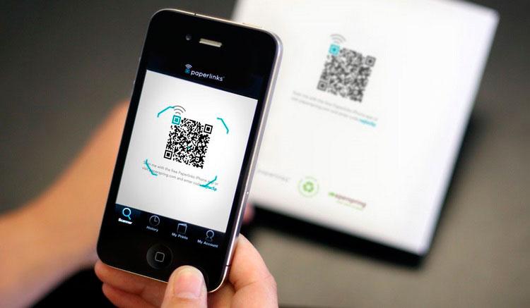 Interfaz gráfica de la app QR Code Reader