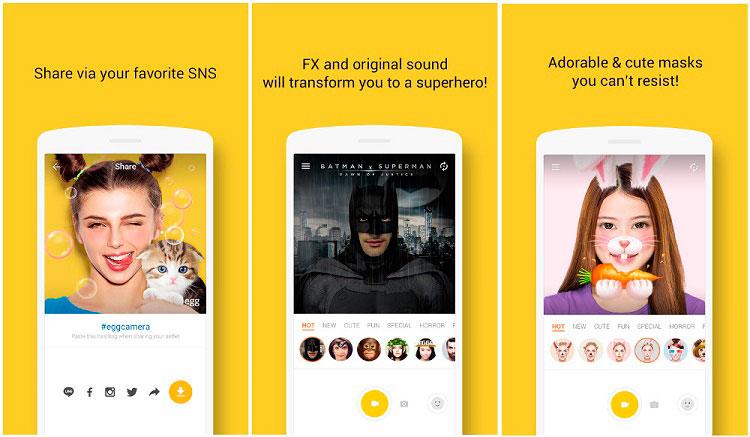 Interfaz gráfica de la app Snapchat