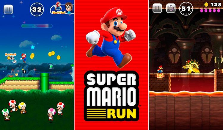 Interfaz gráfica del juego Super Mario Run