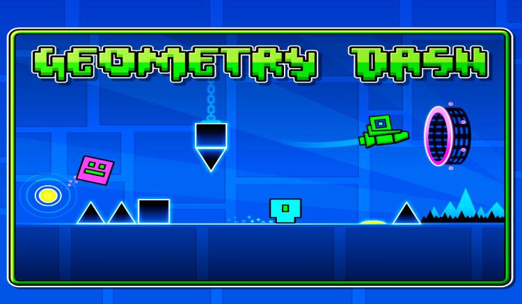 Interfaz gráfica del juego Geometry Dash
