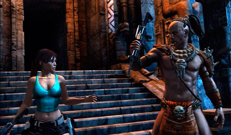 Interfaz gráfica del juego Lara Croft: Guardian of Light