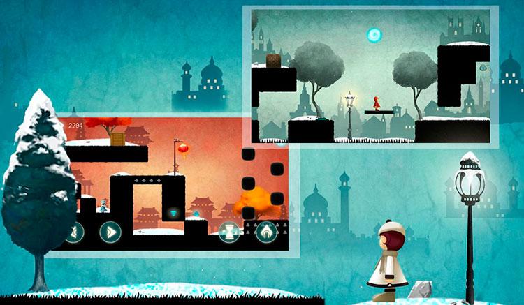 Interfaz gráfica del juego Lost Journey