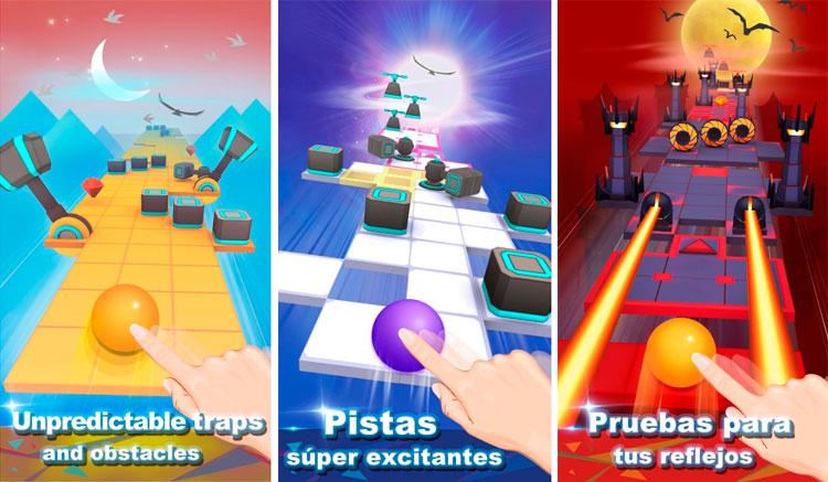 Interfaz gráfica del juego Rolling Sky