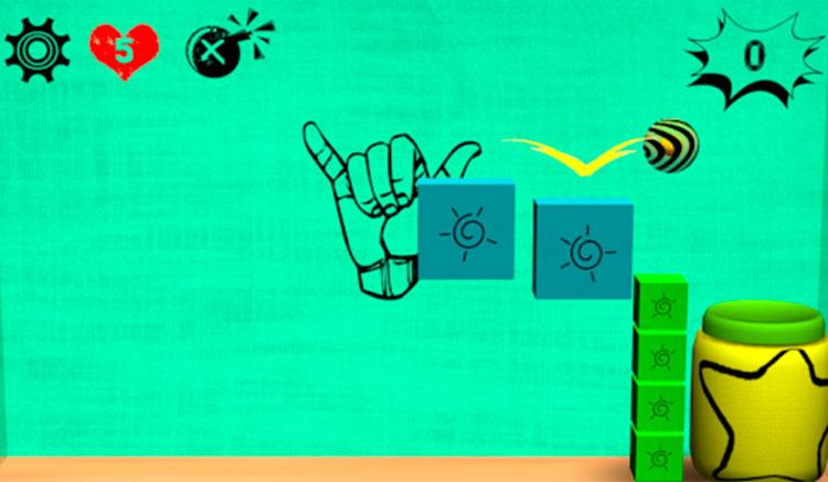 Interfaz gráfica del juego Tigerball