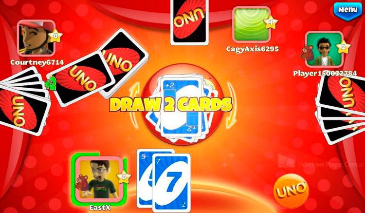 Interfaz gráfica de la app Uno & Friends