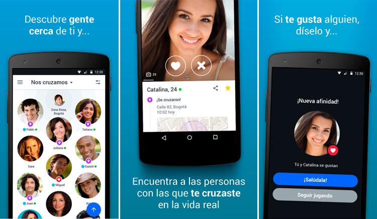 Interfaz de la app de Badoo