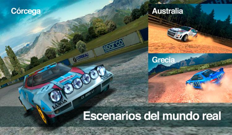 Interfaz gráfica del juego Colin McRae Rally