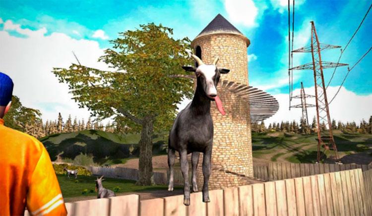 Interfaz gráfica del juego Goat Simulator