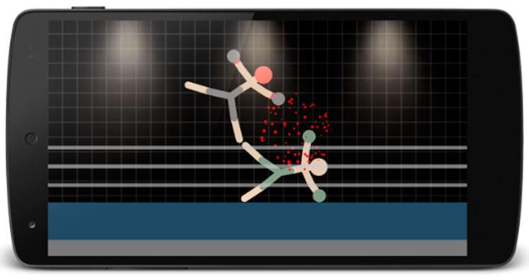 Interfaz gráfica del juego Guerreros de Stickman