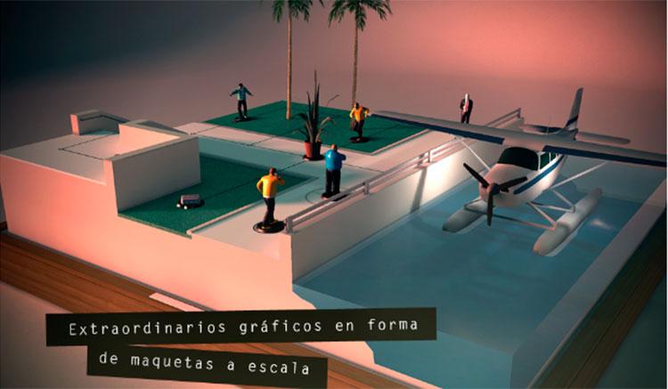Interfaz gráfica del juego Hitman GO