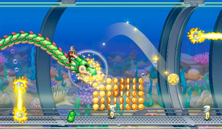 Interfaz gráfica del juego Jetpack Joyride