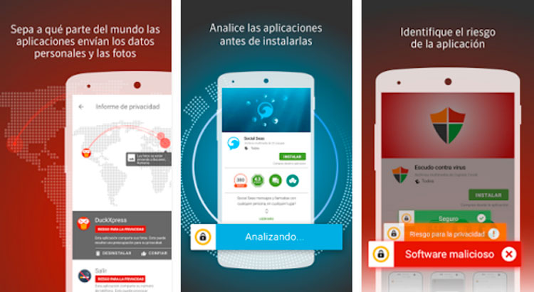 Interfaz gráfica de la app Norton Mobile Security