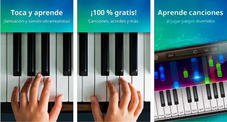 Interfaz gráfica de la app Piano Virtual Gratis