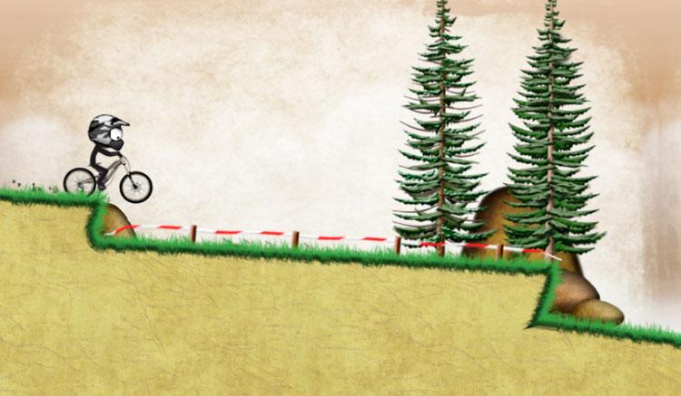 Interfaz gráfica del juego Stickman Downhill