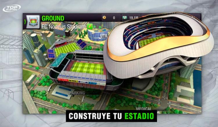 Interfaz gráfica de la app Top Eleven Manager de Fútbol
