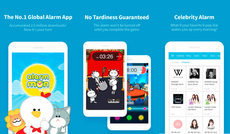 Interfaz gráfica de la app AlarmMon