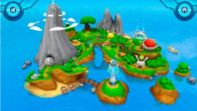 Interfaz gráfica del juego Campamento Pokémon