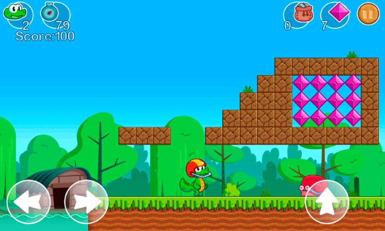 Interfaz gráfica del juego Crocs World