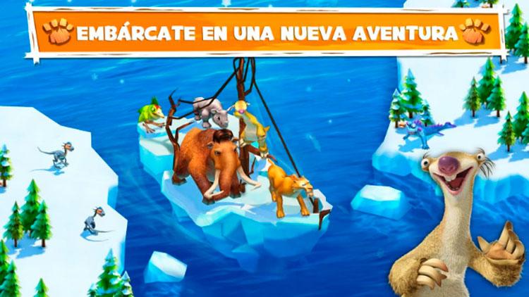 Interfaz gráfica del juego Ice Age Adventures