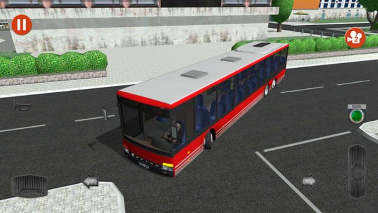 Interfaz gráfica del juego Public Transport Simulator