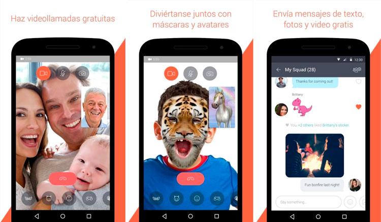 Interfaz gráfica de la app Tango-Chat