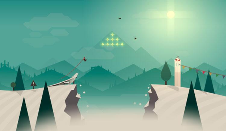 Interfaz gráfica del juego Alto's Adventure