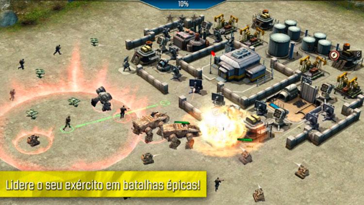 Interfaz gráfica del juego Call of Duty: Heroes