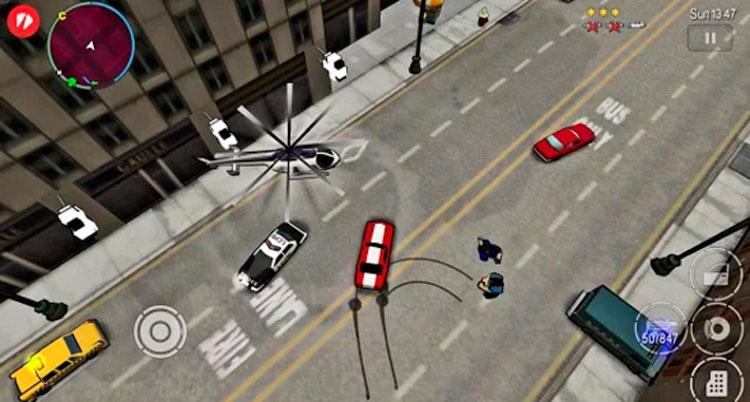 Interfaz gráfica del juego GTA: Chinatown Wars