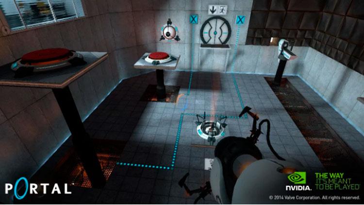 Interfaz gráfica del juego Portal