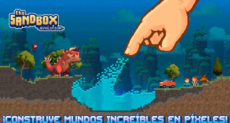 Interfaz gráfica del juego The Sandbox Evolution