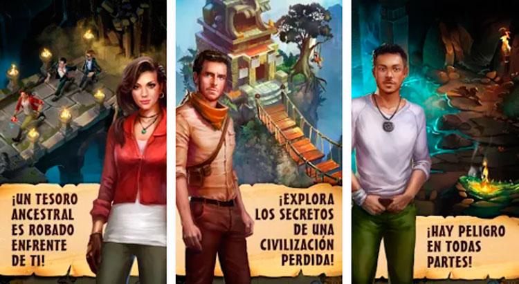 Interfaz gráfica del juego Adventure Escape: Hidden Ruins