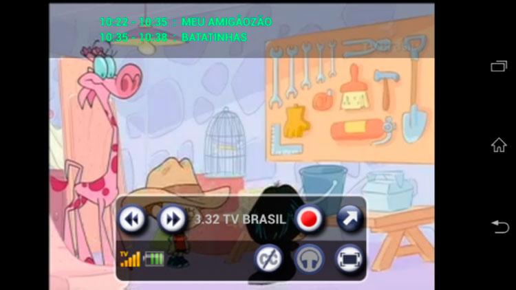 Interfaz de la app de MobyTV