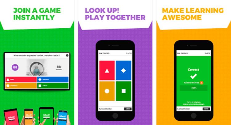 Interfaz de la app de Kahoot!