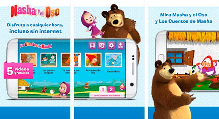 Interfaz gráfica del juego Masha y el Oso
