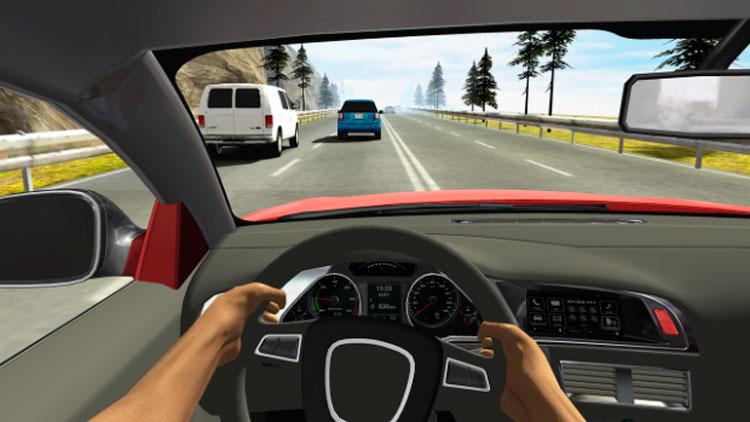 Interfaz gráfica del juego Racing in Car