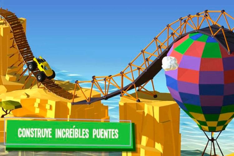 Interfaz gráfica del juego Build a Bridge!