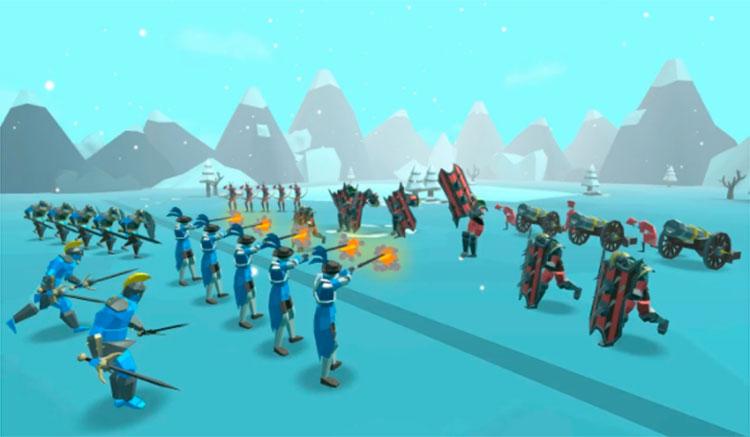 Interfaz gráfica del juego Epic Battle Simulator 2