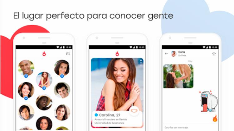 Interfaz gráfica de la app Hot or Not