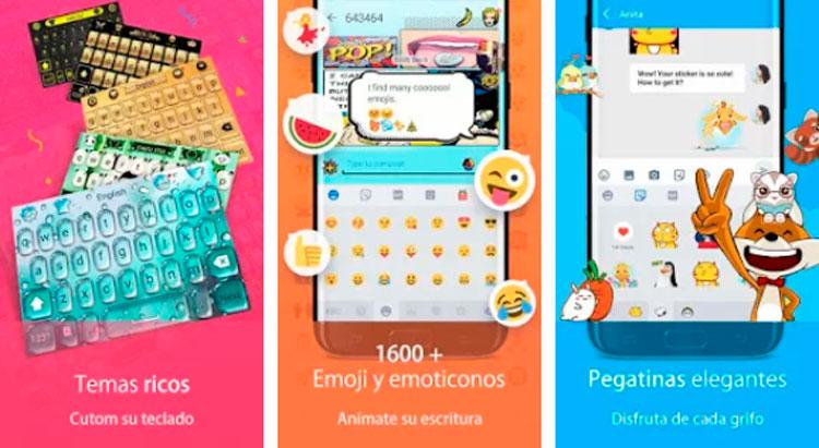 Interfaz gráfica de la app Teclado Hi