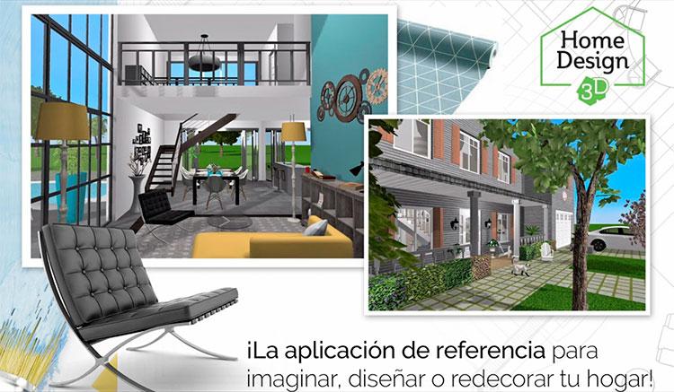 Interfaz gráfica de la app Home Design 3D