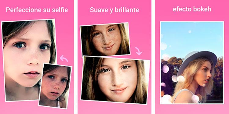 Interfaz gráfica de la app Beauty Camera