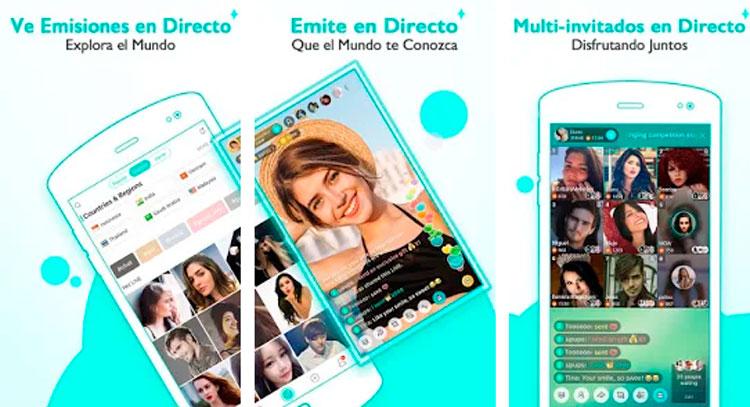 Interfaz gráfica de la app Bigo Live
