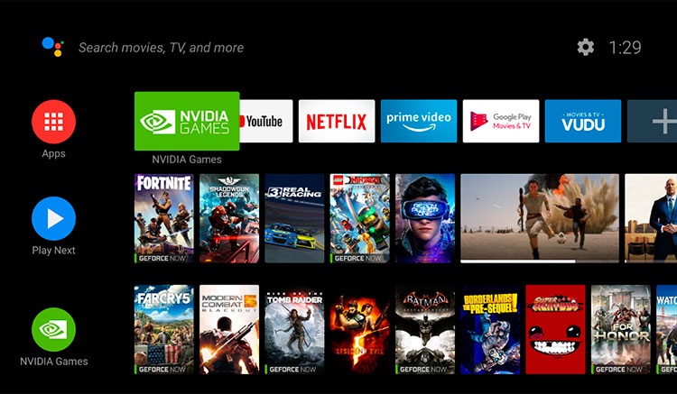 Interfaz gráfica de la app NVIDIA Games