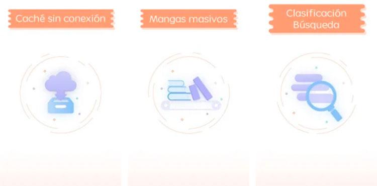 Interfaz gráfica de la app Manga Tag