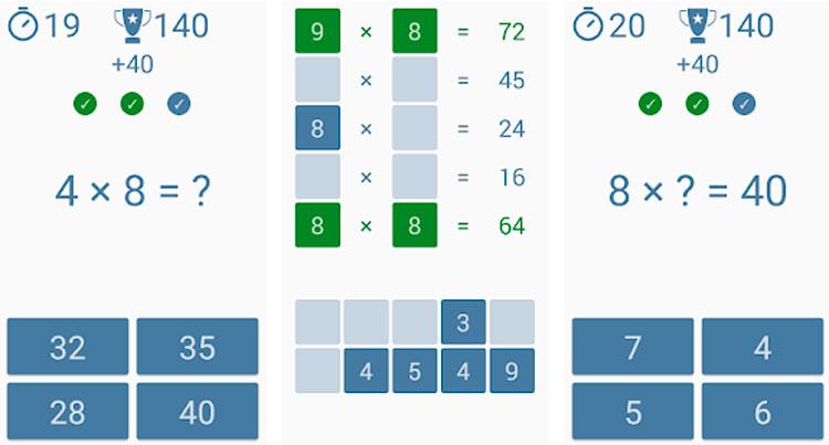 Interfaz gráfica de la app Tabla de Multiplicar